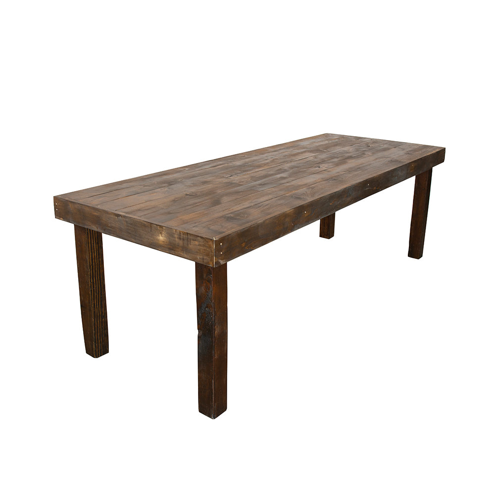 Farmhouse Dining Table - 3'x8' - Alpine Event Co.