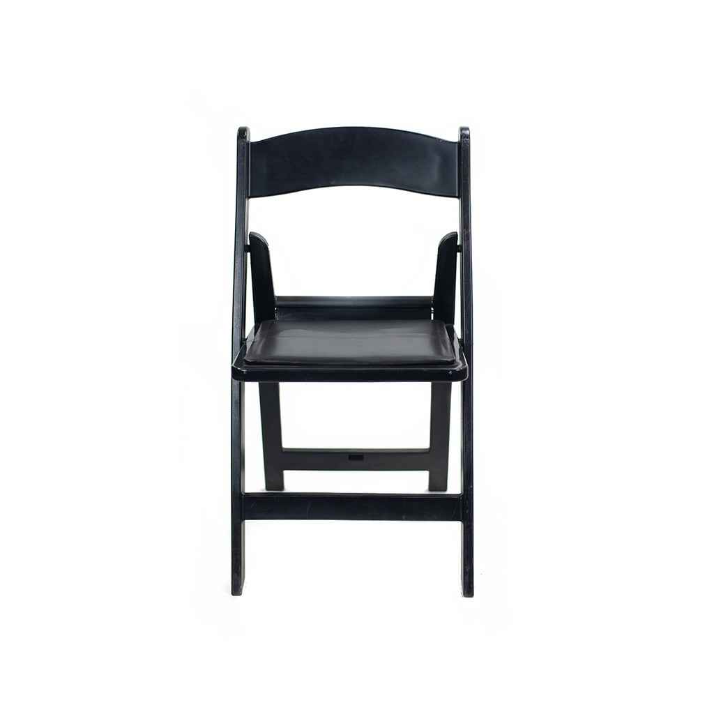 Black Resin Folding Chair - Alpine Event Co.
