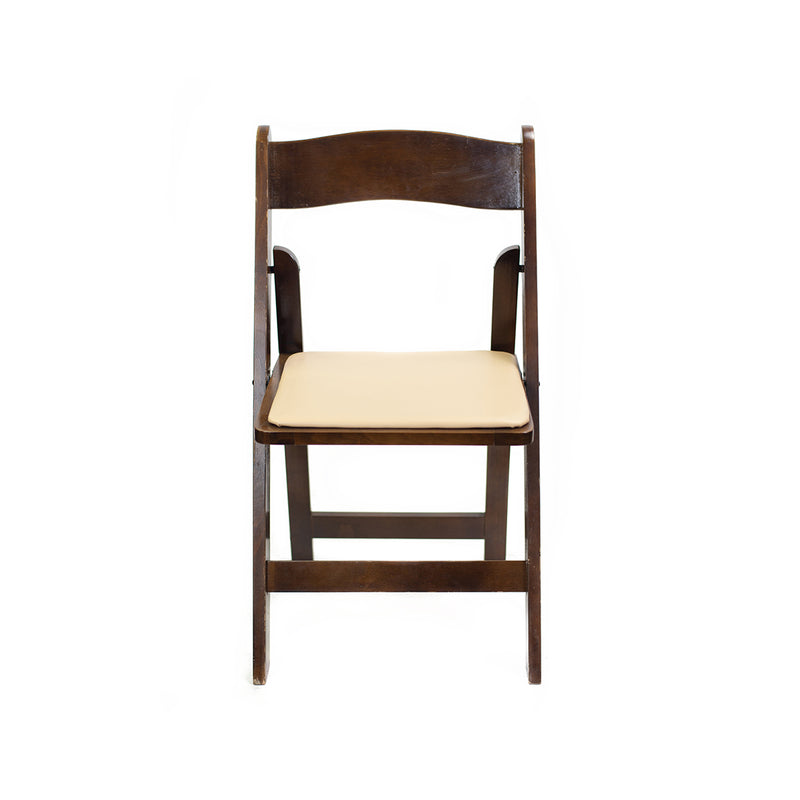 Dark Walnut Folding Chair - Alpine Event Co.