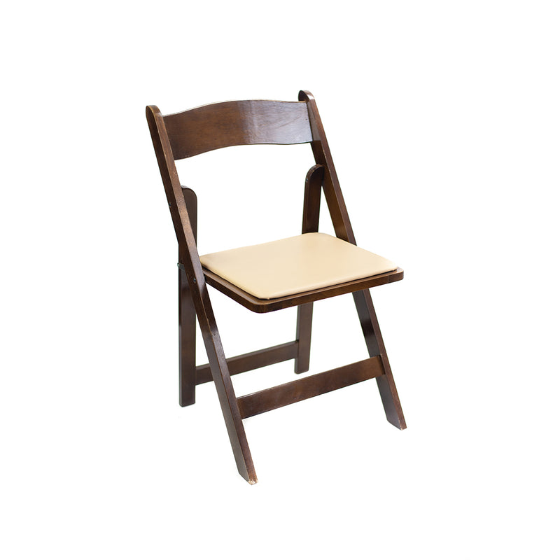 Dark Walnut Folding Chair