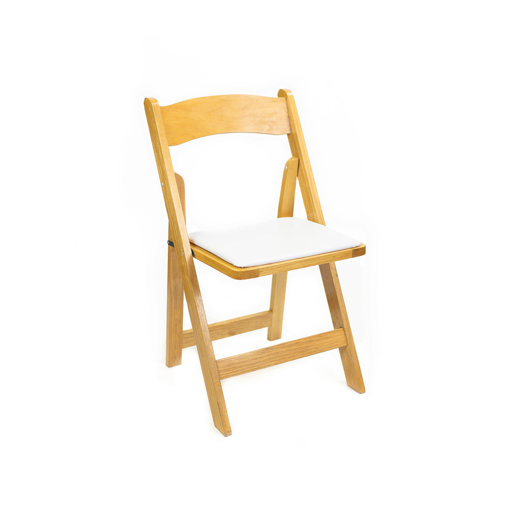 Natural Wood Folding Chair - Alpine Event Co.