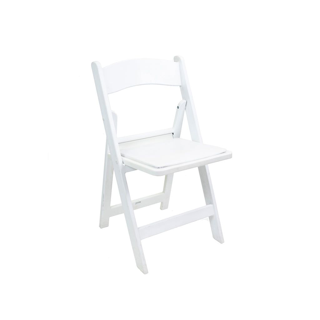 White Resin Folding Chair - Alpine Event Co.