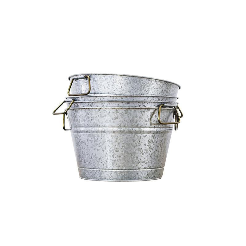 Galvanized Tin Bucket - Alpine Event Co.