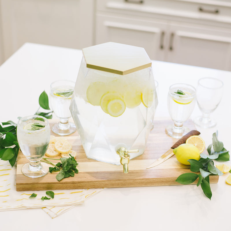 Geometric Glass Drink Dispenser - Alpine Event Co.