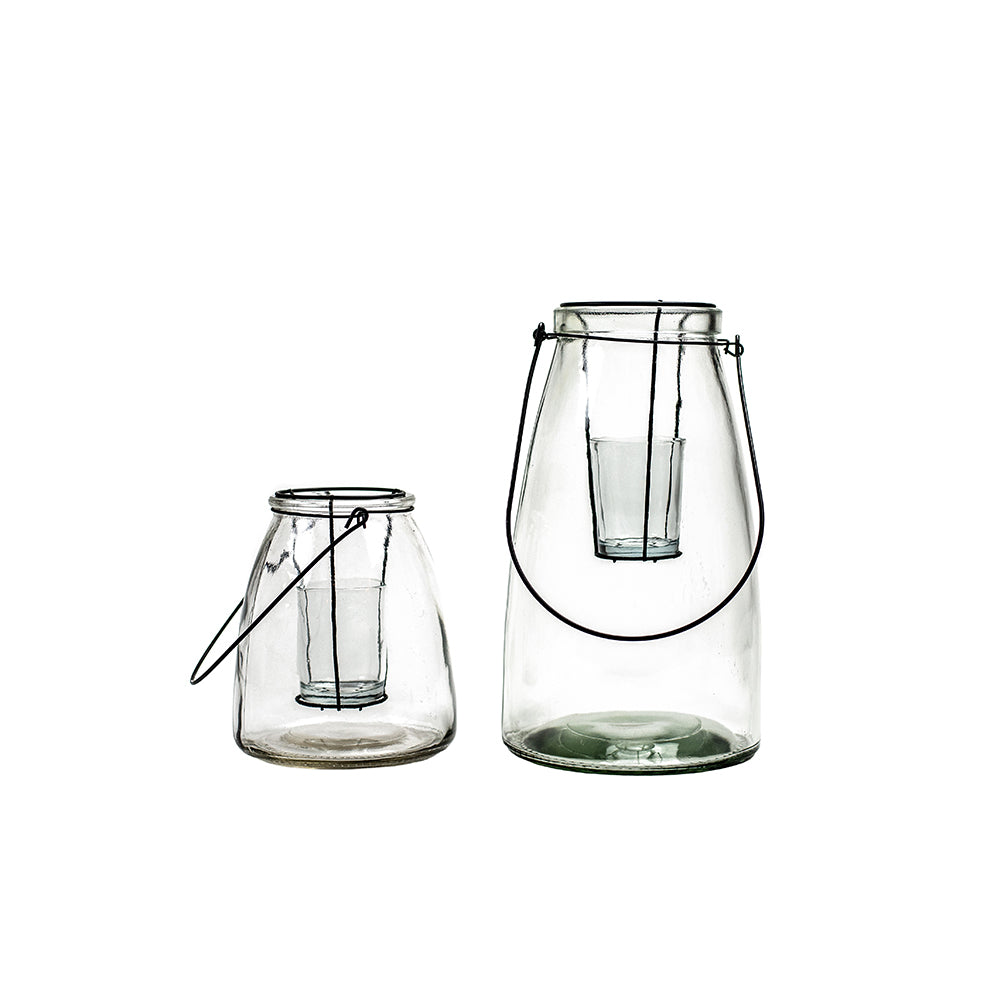 Clear Glass Lantern Votive