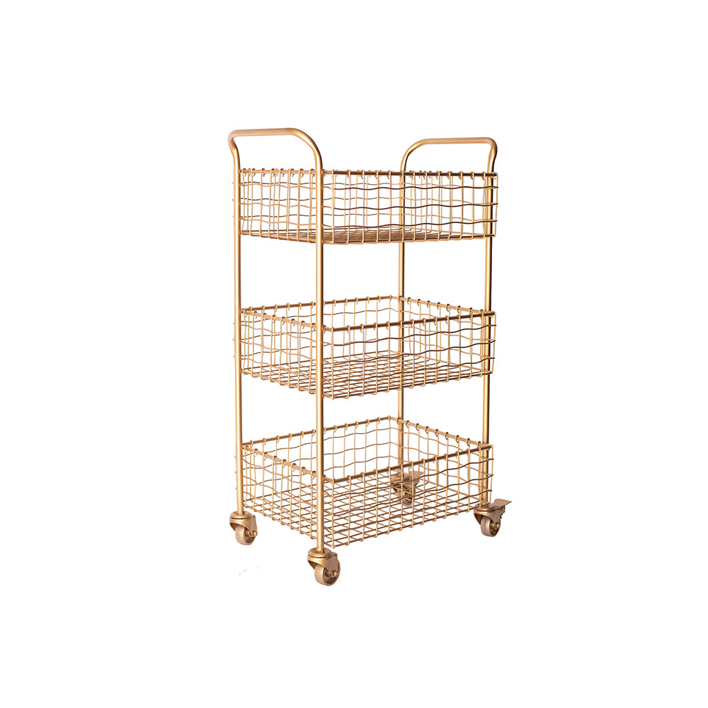 Gold 3-Tier Cart - Alpine Event Co.