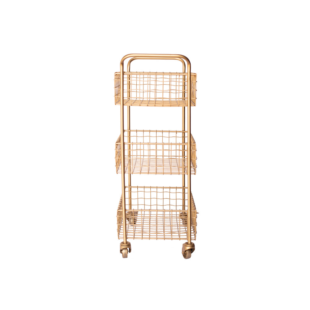 Gold 3-Tier Cart