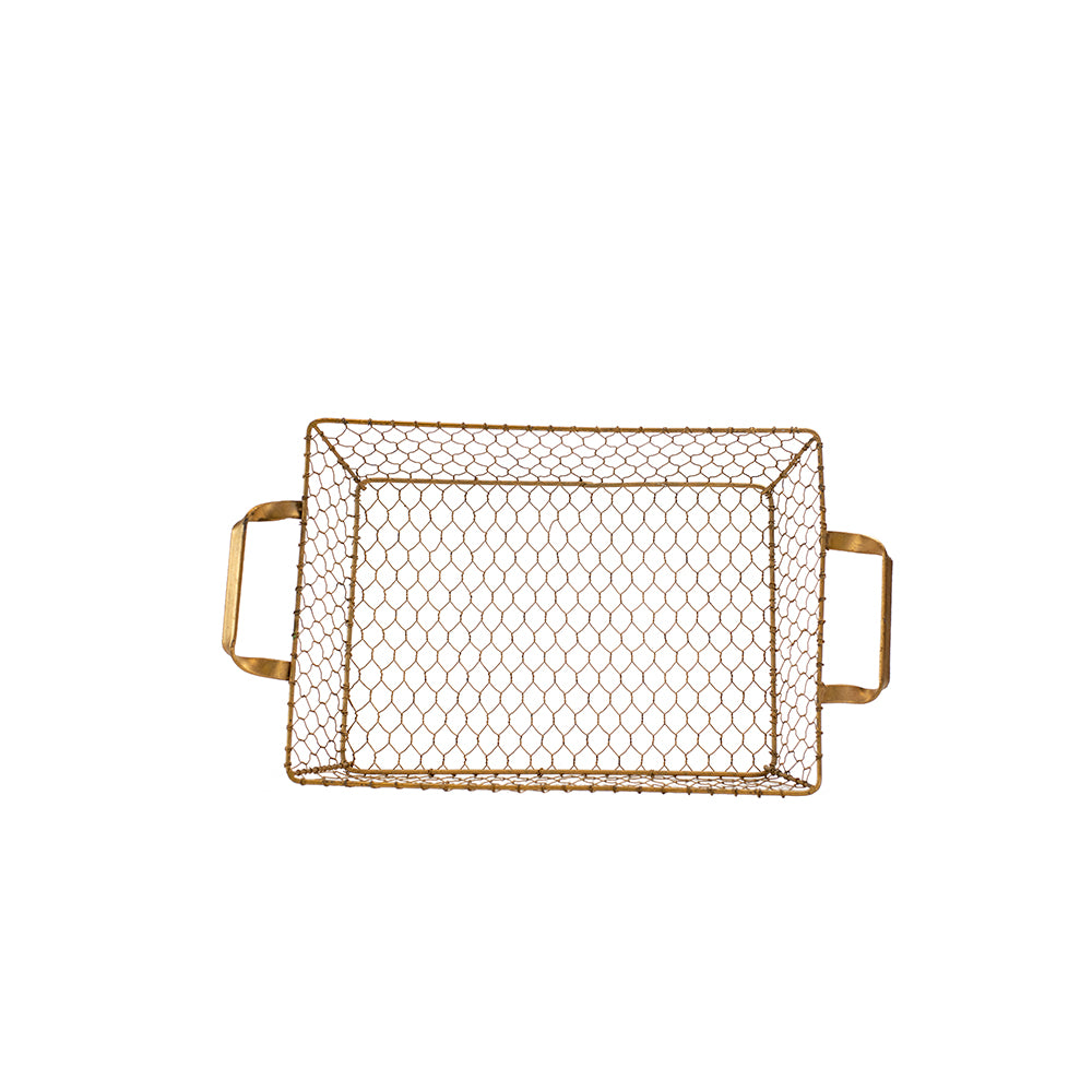 Gold Wire Basket - Alpine Event Co.