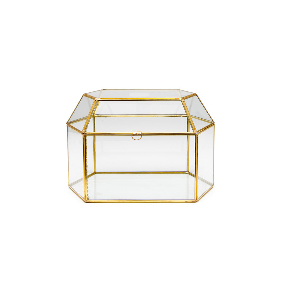 Gold Terrarium Card Box - Alpine Event Co.