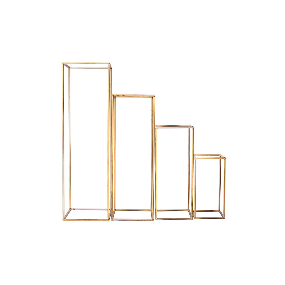 Gold Geometric Floral Stands