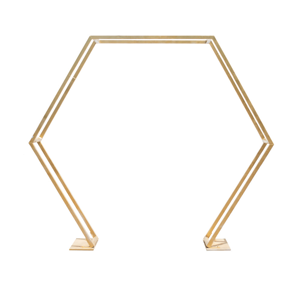 Gold Hexagon Arch - Alpine Event Co.