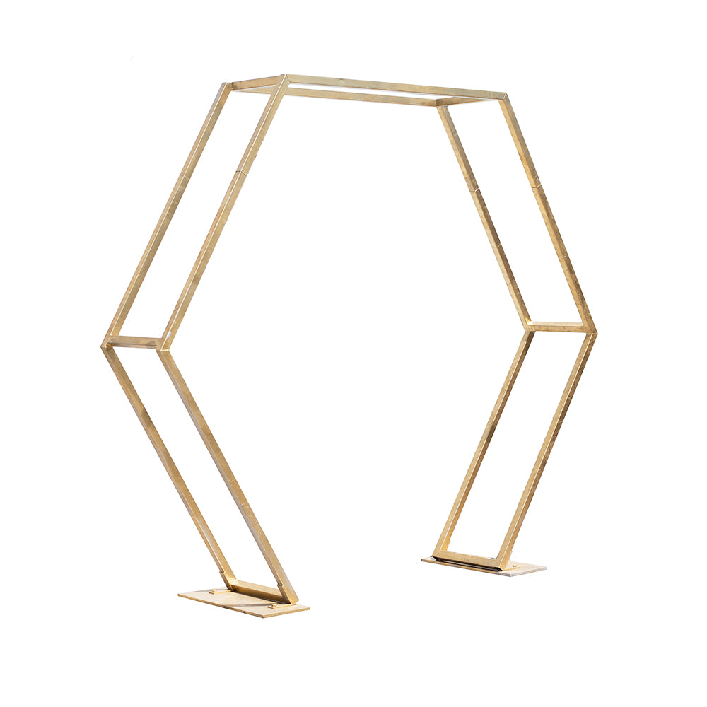Gold Hexagon Arch