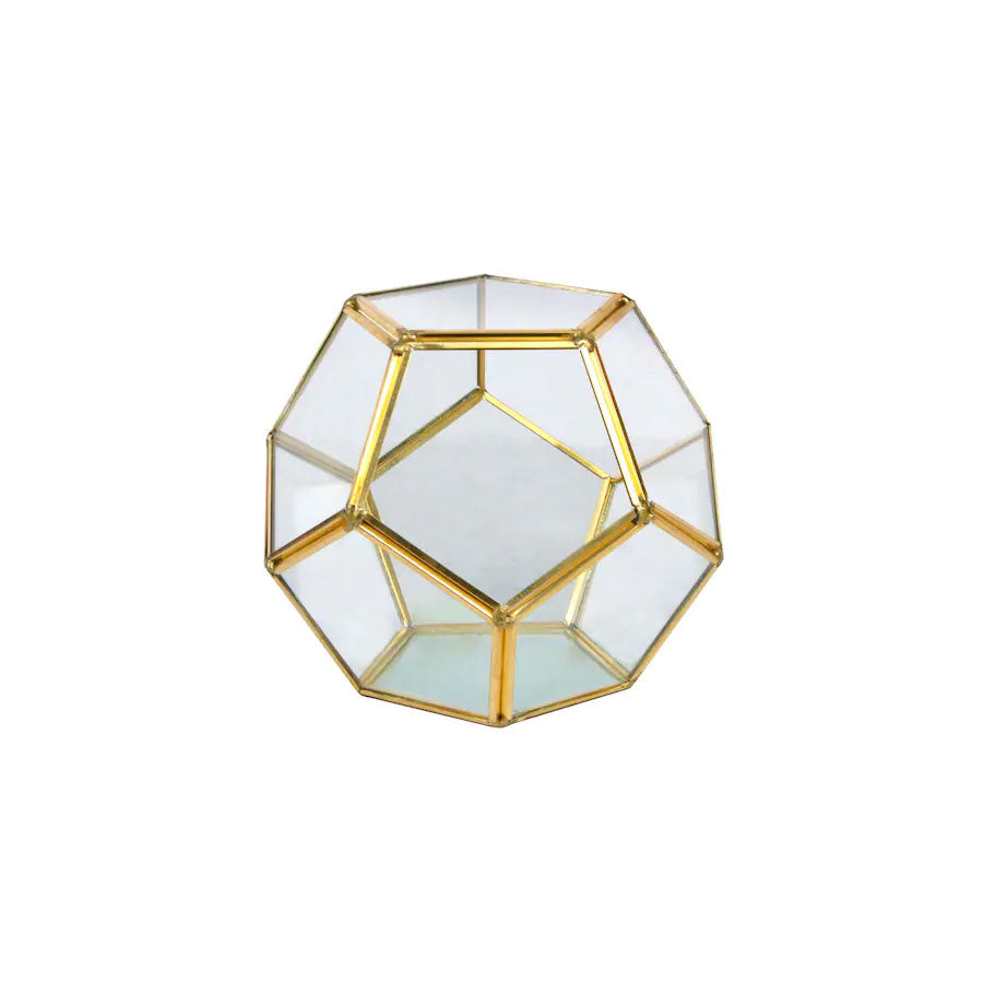 Gold Octagon Terrarium - Alpine Event Co.