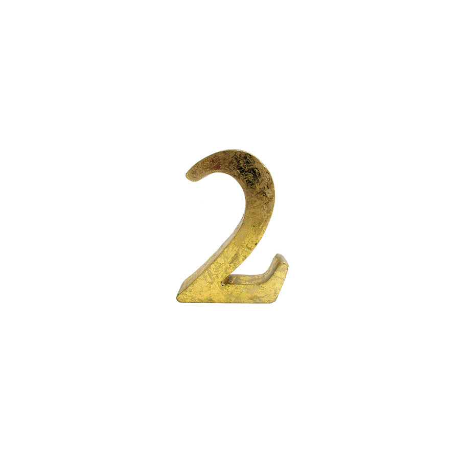 Gold Table Numbers - Alpine Event Co.