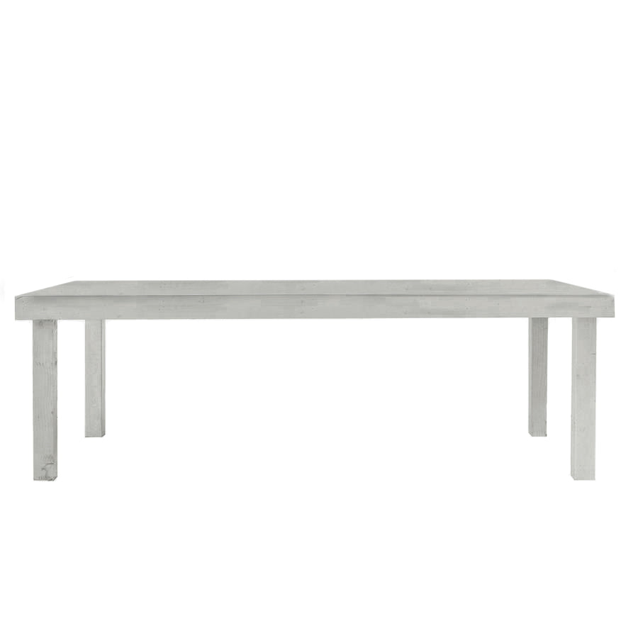 Gray Farmhouse Dining Table - 4'x8' - Alpine Event Co.