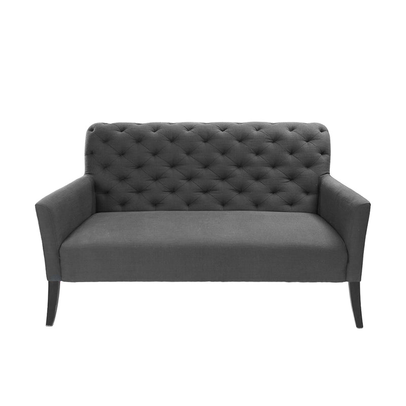 Gray Tufted Love Seat