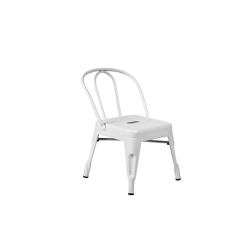 Kids White Metal Chair