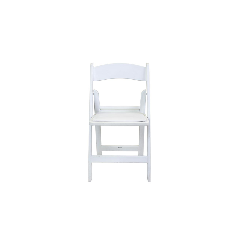 Kids White Resin Folding Chair