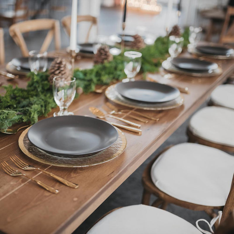 Matte Black Dinner Plate - Alpine Event Co.