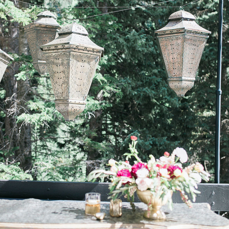 Punched Tin Moroccan Lanterns - Alpine Event Co.