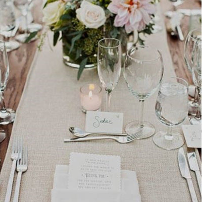 Natural Linen Table Runner - Alpine Event Co.