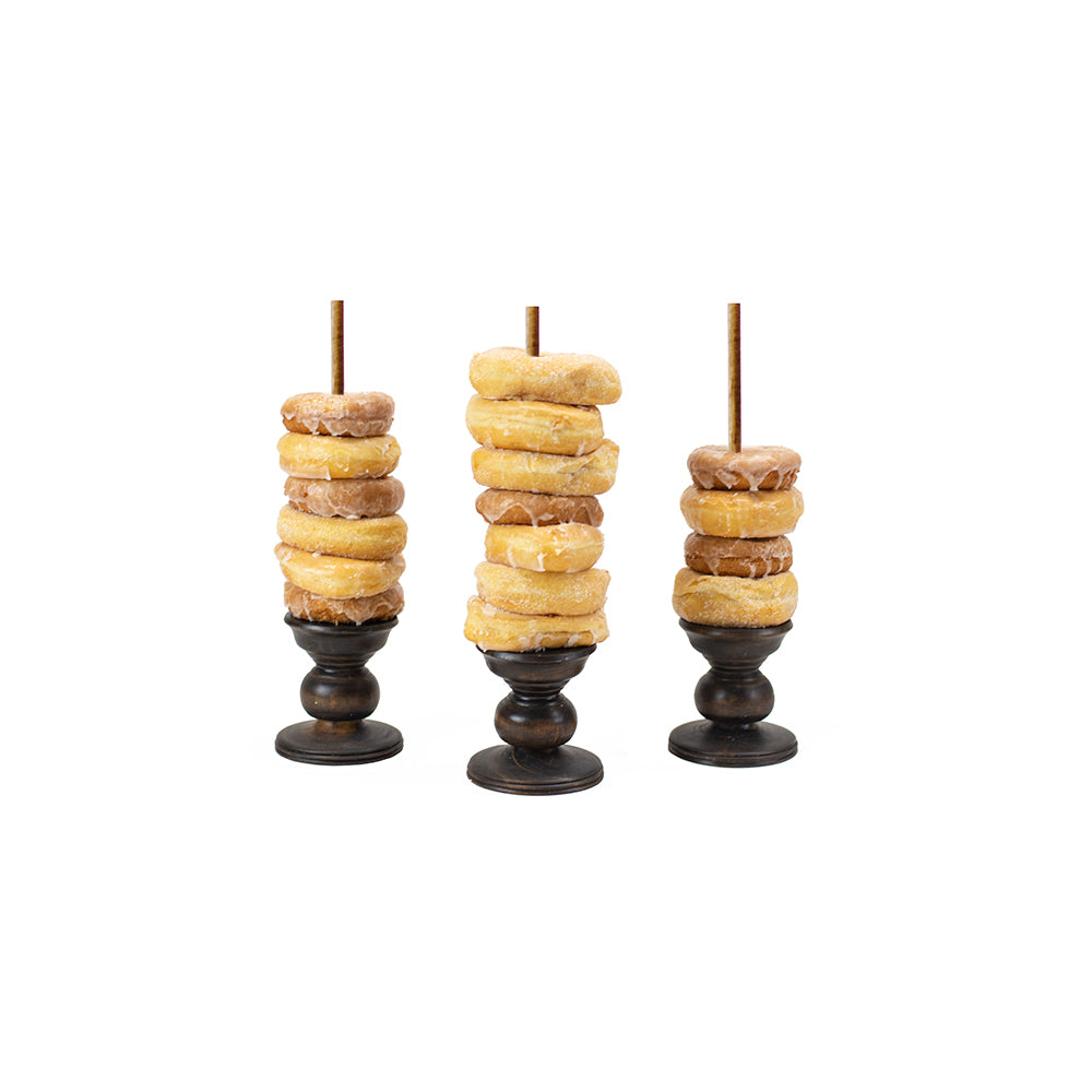 Individual Donut Stands (Brown) - Alpine Event Co.