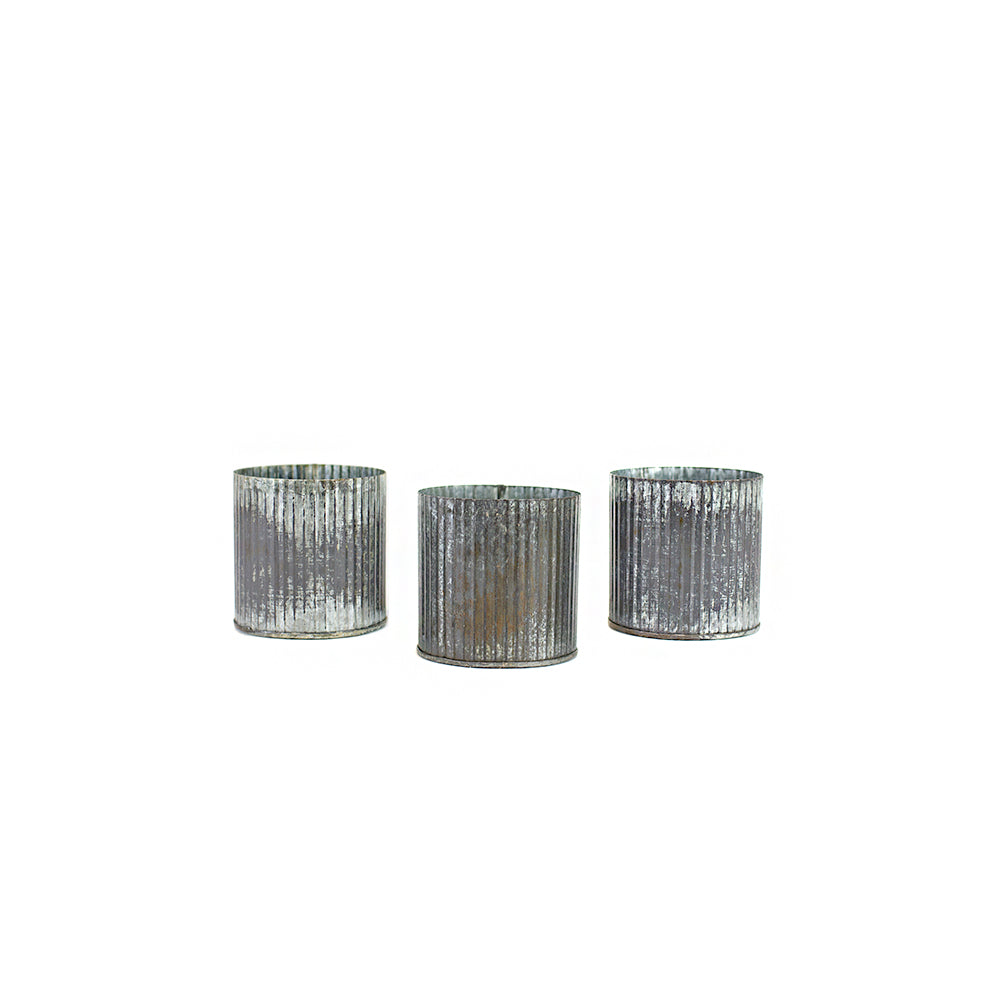 Corrugated Tin Votives - Alpine Event Co.