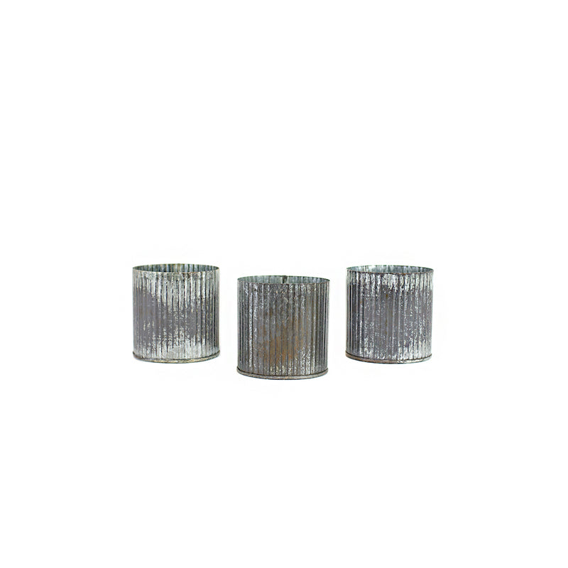 Corrugated Tin Votives