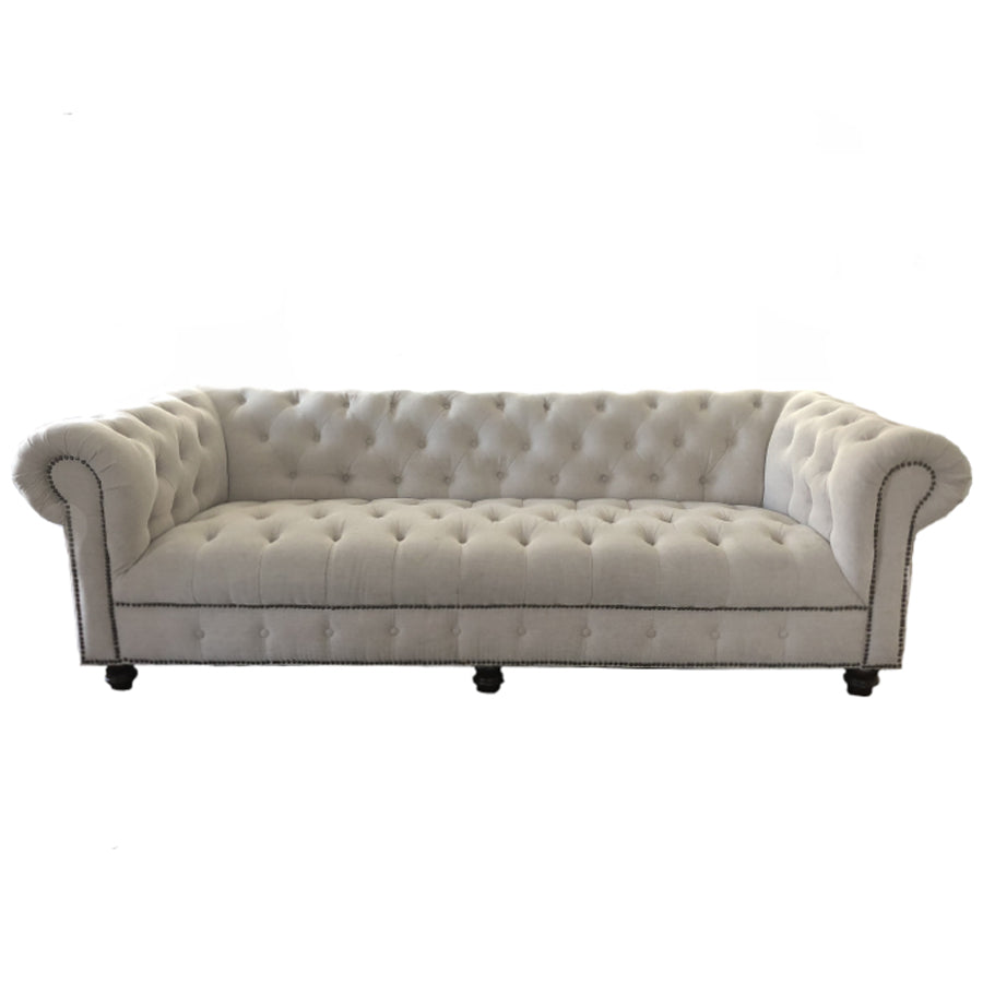 Natural Tufted Sofa - Alpine Event Co.