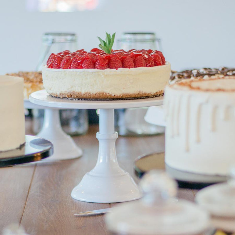 White Metal Cake Stand - Tall - Alpine Event Co.