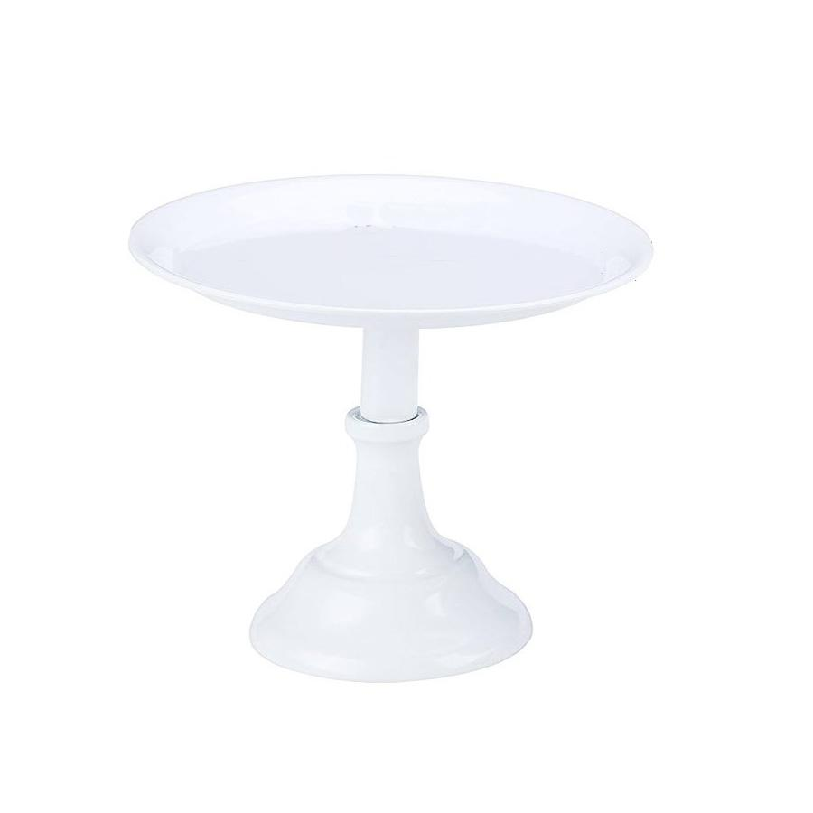 White Cake Stand Raised - Tall - Alpine Event Co.
