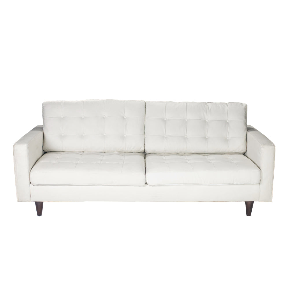 Modern White Leatherette Sofa