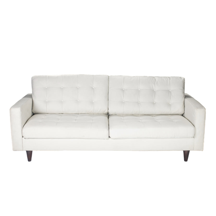 Modern White Leather Sofa – Alpine Event Co.