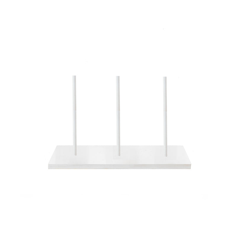 White Cake Stand Raised - Short