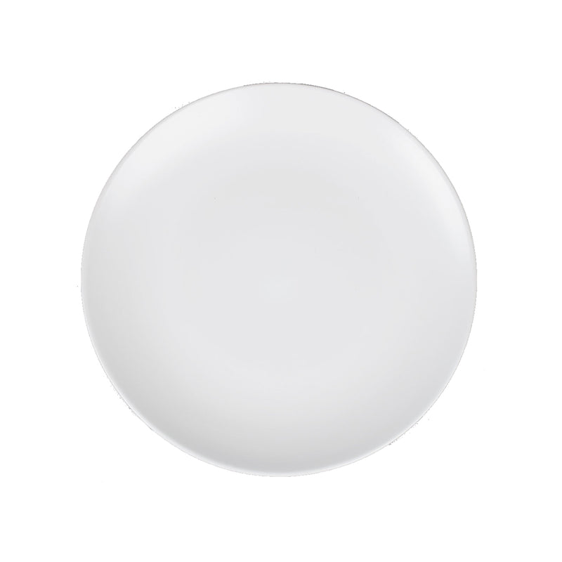 White Stoneware Dinner Plate - Alpine Event Co.