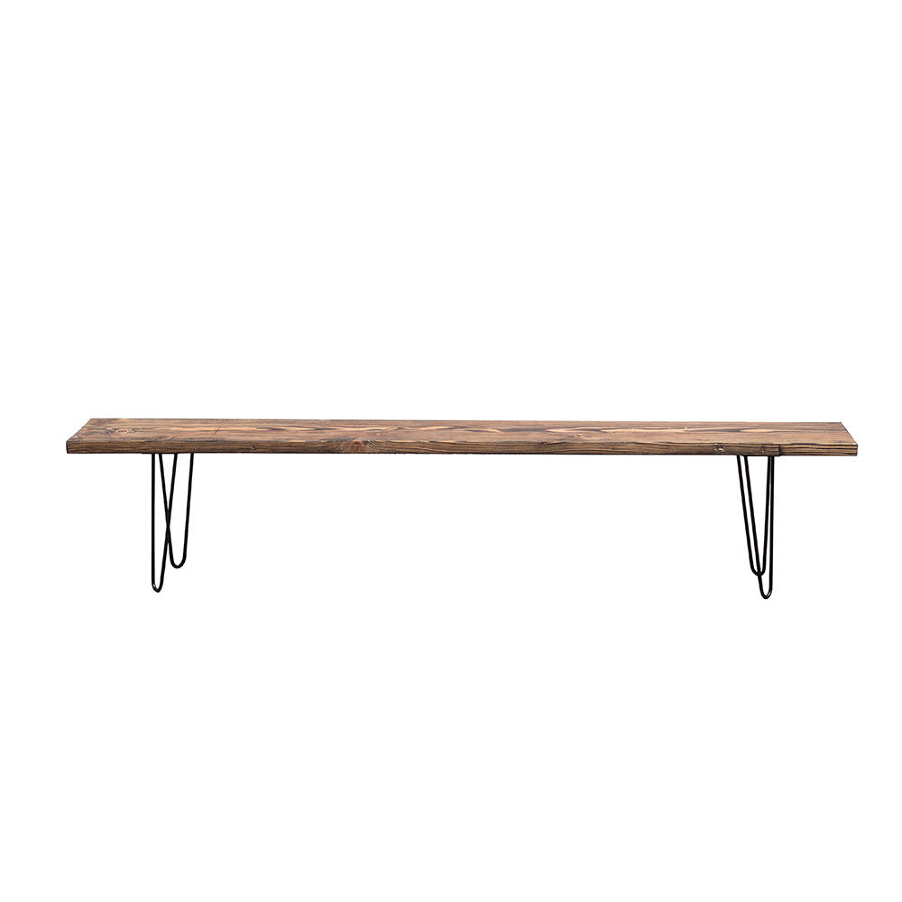 Farmhouse Hairpin Bench - Alpine Event Co.
