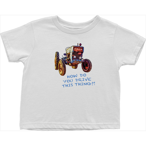 Modern Farmer Toddler Tractor Tees