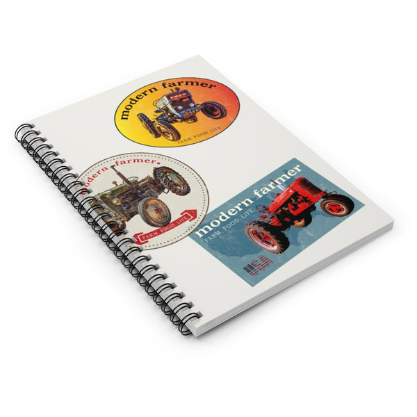 Old Tractor Stickers Spiral Notebook