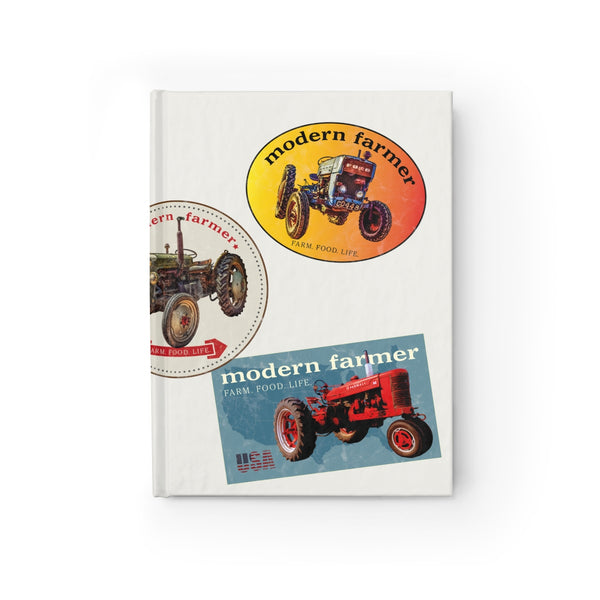 Old Tractor Stickers Notebook