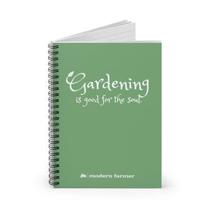 """Gardening is good for the soul"" Spiral Notebook"