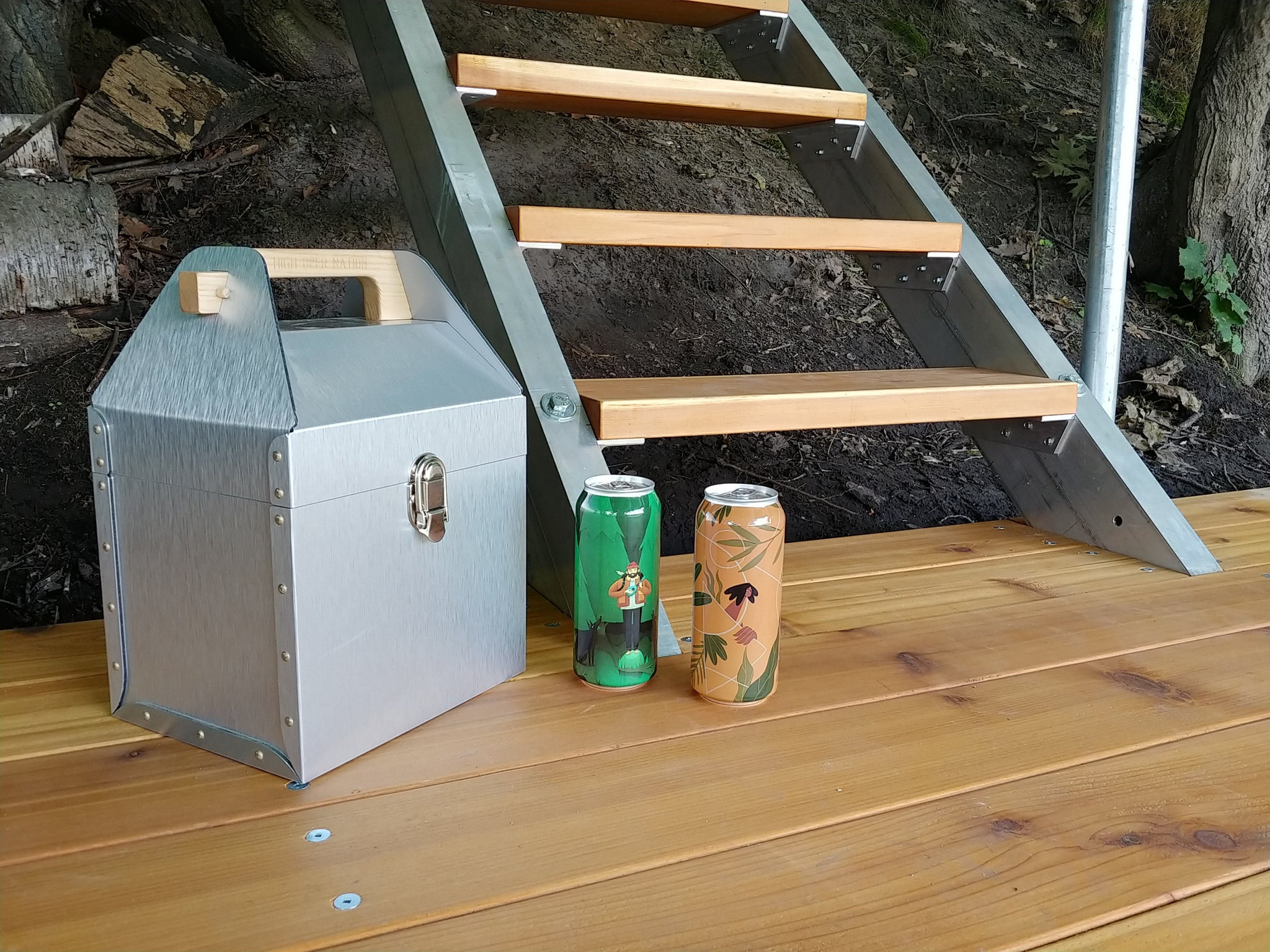 Riveted Aluminum Drink Caddy