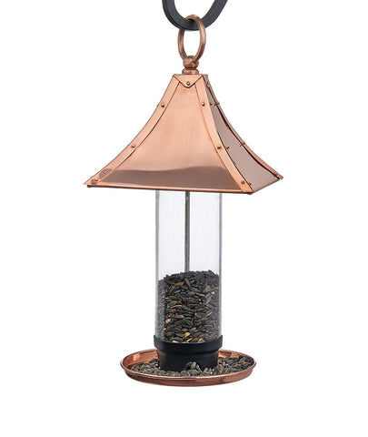Palazzo Polished Copper Bird Feeder