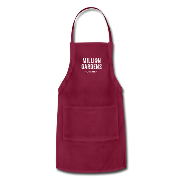 Million Gardens Movement Apron - burgundy