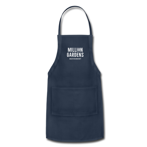 Million Gardens Movement Apron - navy