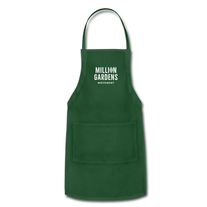 Million Gardens Movement Apron - forest green