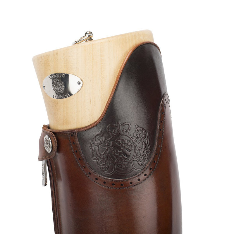DRESSAGE, Dressage Standard riding boots in brown , vista 5