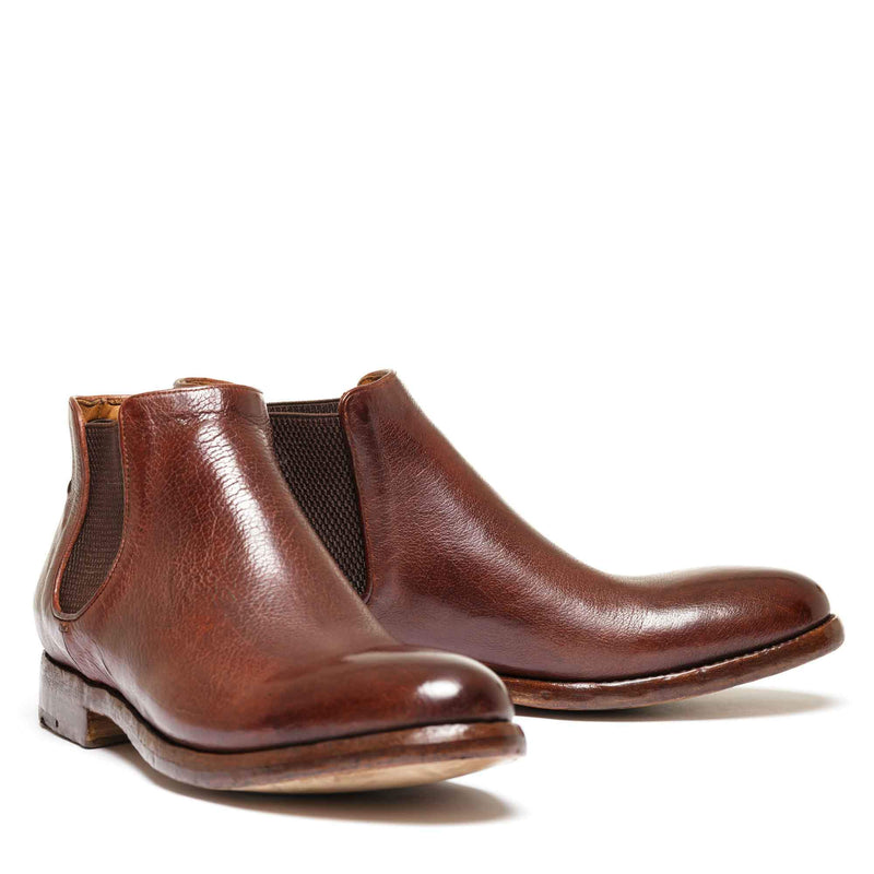 ELIAS 628 , Brown washed chelsea boots, vista 2
