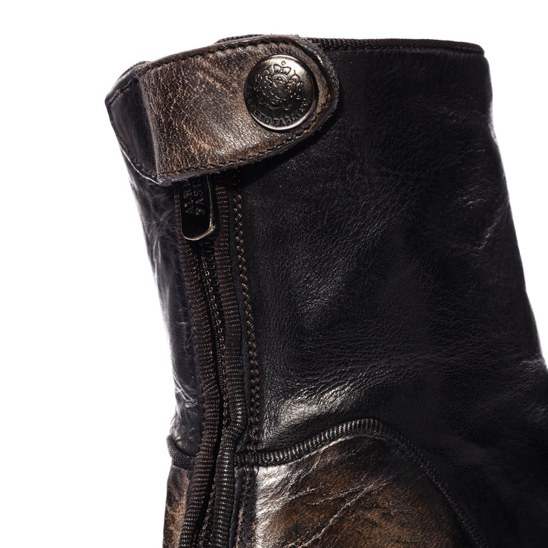 EVITA 502, Ankle boots washed and dyed buffalo leather , vista 3