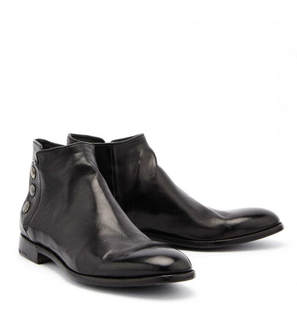 PASCAL 36067, Dyed black buffalo ankle boots, vista 2