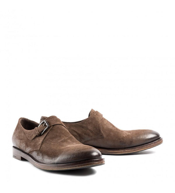 SASHA 34024<br>Brown derby shoes
